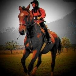 můj syn 10 let na svém koni
